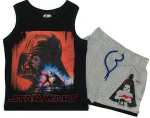 Komplet Star Wars ''Darth'' czarny  8 lat