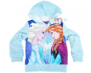 "Bluza z kapturem Frozen ""Best Friends"" turkus 4 lata"